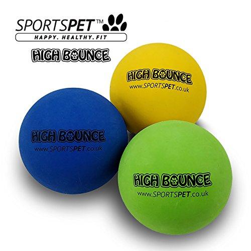 SPORTSPET Langlebige High Bounce Sport Bälle