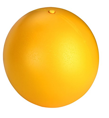 Hundespielball aus Kunststoff, 30 cm, gelb