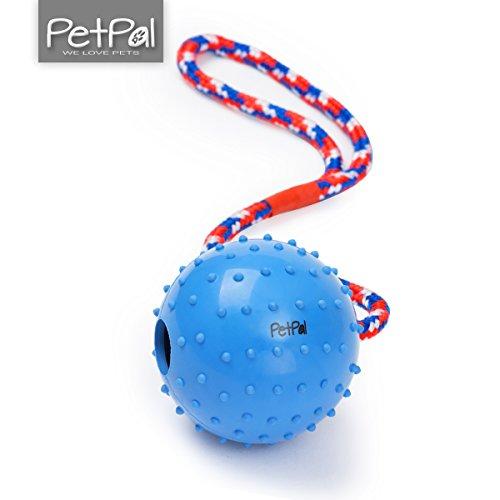 PetPäl Wurfball mit Seil Naturkautschuk